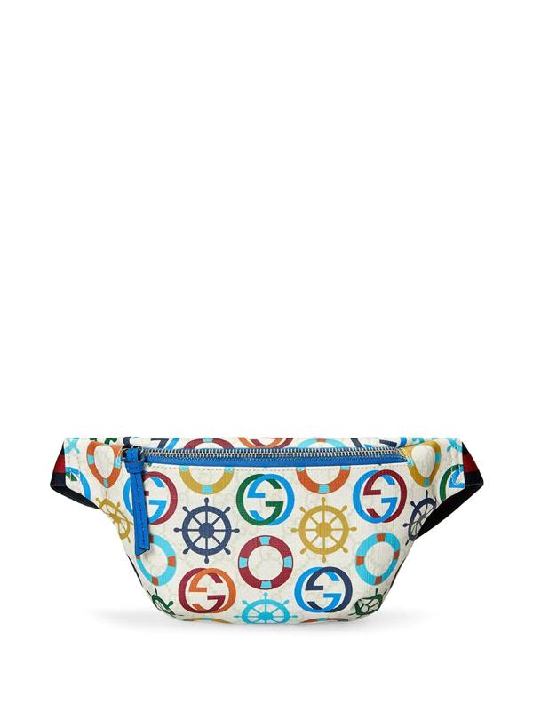 Gucci Kids' Children's Gg Sea Print Belt Bag In White