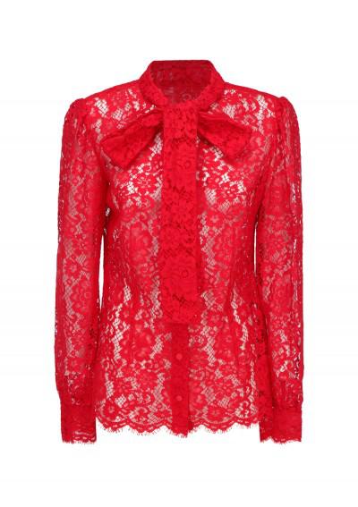 Dolce & Gabbana Shirt In Rosso Brillante