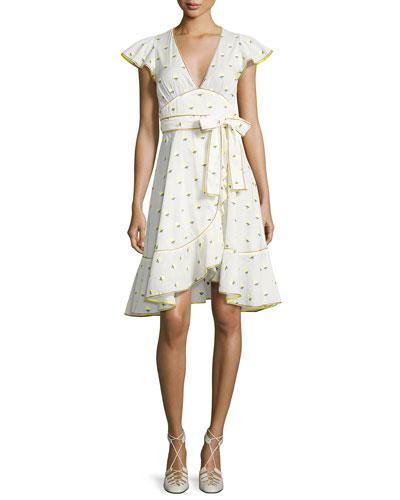 752349e3bb6d7b Marc Jacobs Printed Voile Ruffle-Sleeve Dress, White Pattern | ModeSens
