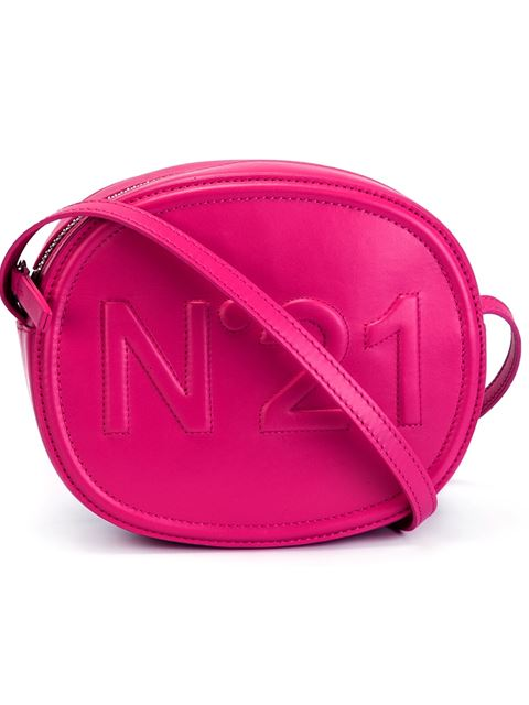 N°21 Crossbody Bag With Embossed Logo In Fucsia