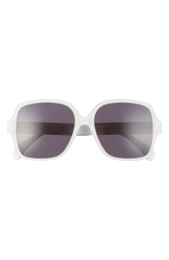Alaïa 56mm Rectangle Sunglasses In White