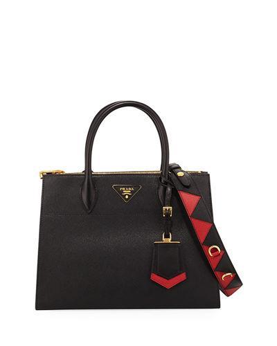 47f3855c9fef Prada Paradigme Big Cross-Body Bag In Black Red