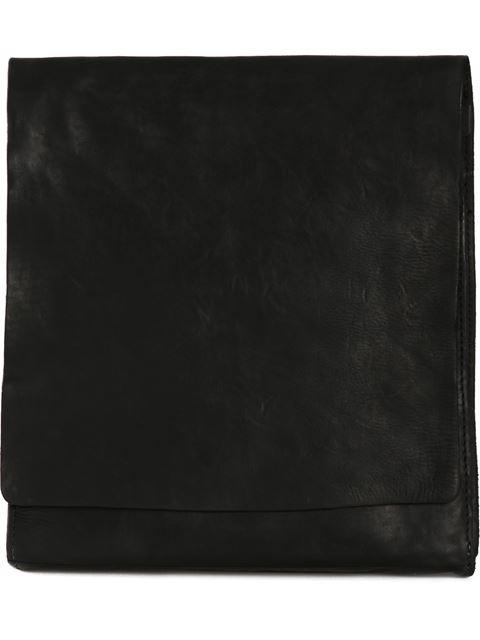 Guidi Leather Messenger Bag - Black