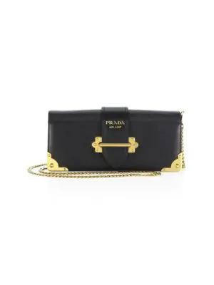 93c173225a41 Prada Cahier Calf Flap-Top City Clutch Bag, Red/Black In Nero | ModeSens