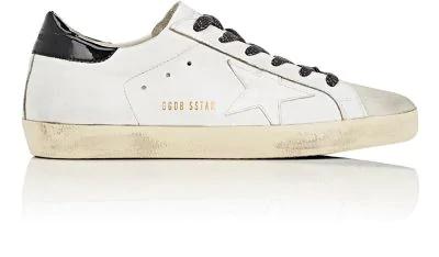 Golden Goose Superstar Leather Low-Top Sneaker, White/Black
