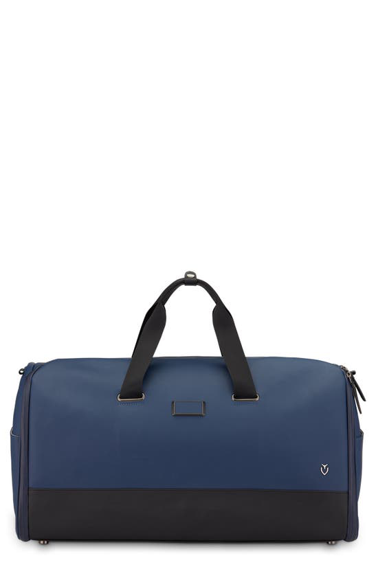 Vessel Signature 2.0 Garment Duffle Bag In Pebble Navy/pebble Black