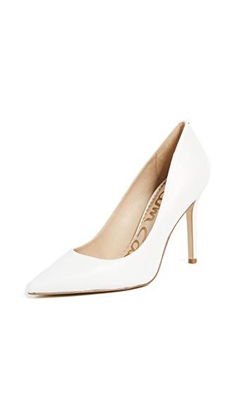 54c5f95201b Sam Edelman Hazel Napa Leather Pointed-Toe Pumps In Bright White ...