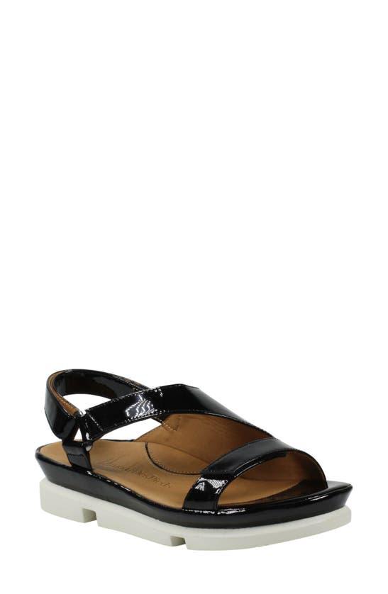 L'amour Des Pieds Villarmosa Sandal In Black Patent Leather