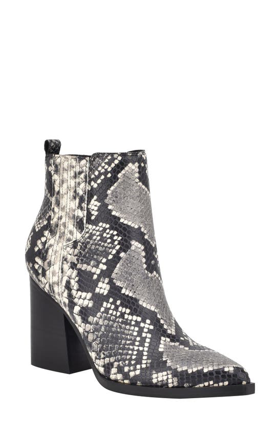 Marc Fisher Ltd Oshay Pointed Toe Bootie In Black Snake Print