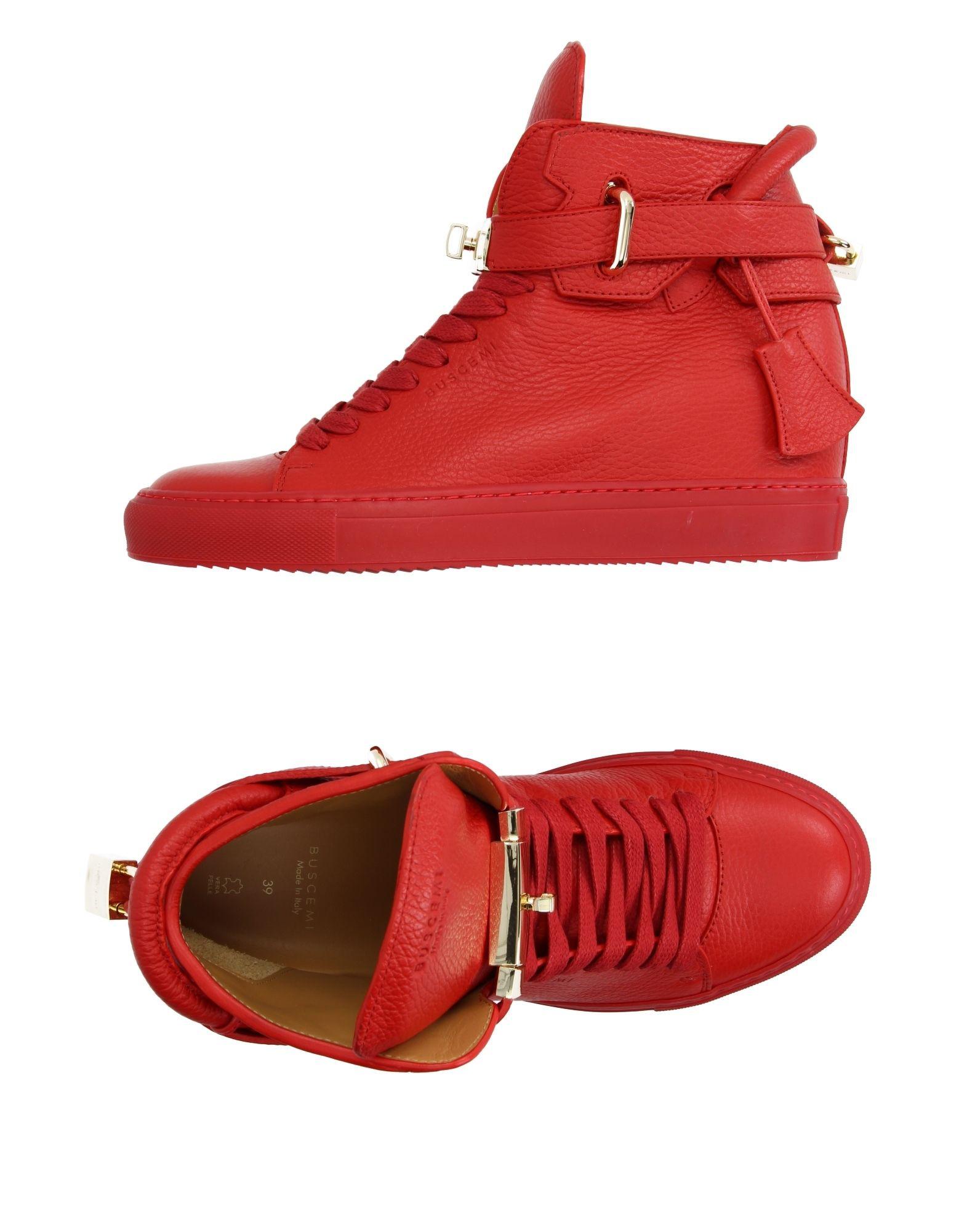 bdebc6b23b9 BUSCEMI. Alta Leather Wedge High Top Sneakers