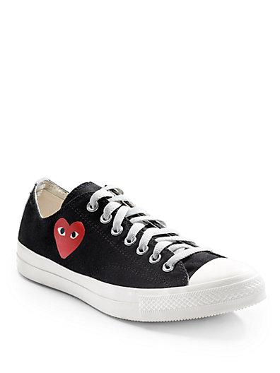 Comme Des Garçons Low-top Canvas Sneakers In Black