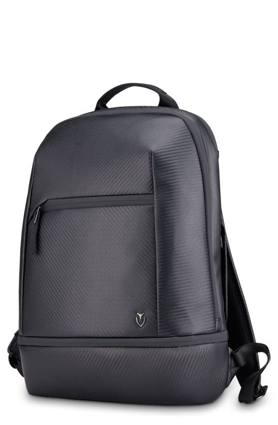 Vessel Signature 2.0 Faux Leather Backpack In Carbon Black