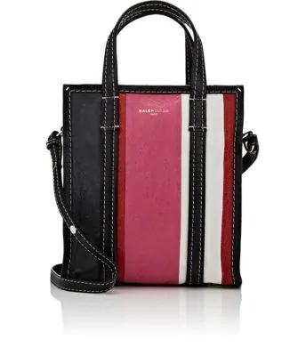 20681a73468 Balenciaga Bazar Small Striped Leather Shopper Tote Bag, Blue/Multi In Pink