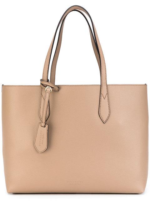 Burberry Small Reverse Shopping Bag In Light Elderberry|rosa