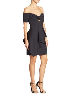 Milly Vanessa Cocktail Dress In Black