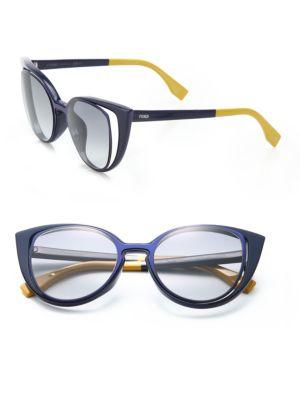1d3e7026c56aa Fendi Cat S-Eye 51Mm Sunglasses In Navy