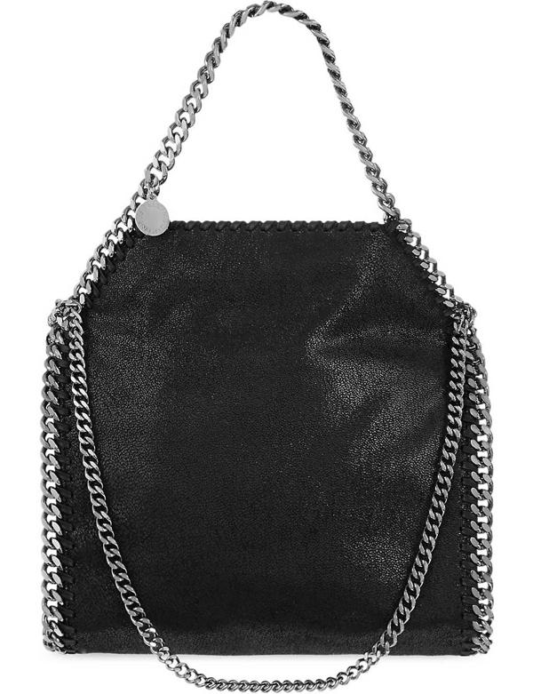 Stella Mccartney Mini Baby Bella Faux-Leather Tote In Black