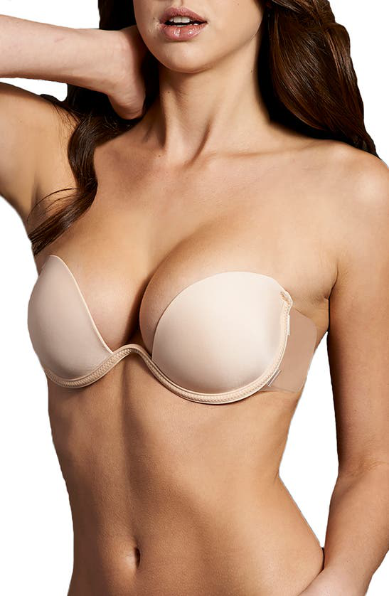 Maidenform Push Up Combo Wing Backless Bra In Nude