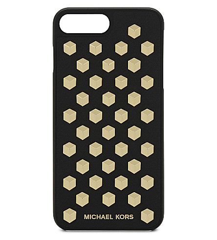 pretty nice c6cee 0da62 Studded Saffiano Leather Iphone 7 Plus Case in Black