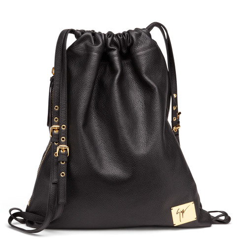 Giuseppe Zanotti - Black Textured Leather Backpack Fritz