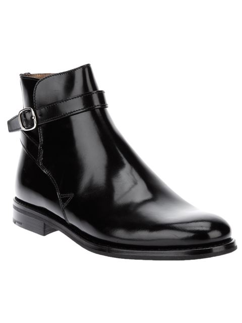 Church's Merthyr Glossed-Leather Ankle Boots In Black