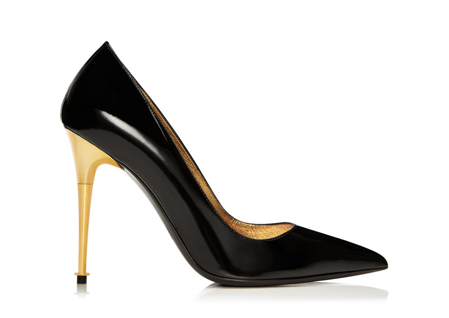 Tom Ford Patent Leather Pin-Heel Pump, Black In Llack