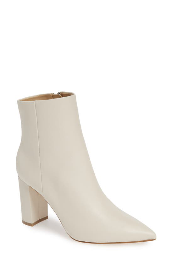 Marc Fisher Ltd Ulani Pointy Toe Bootie In Ivory Leather