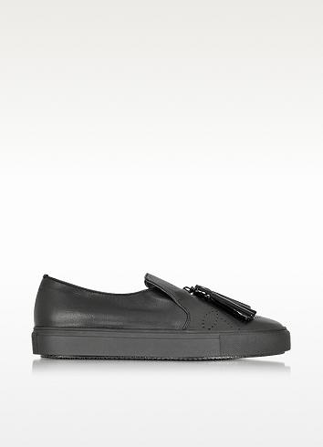 Fratelli Rossetti Black Leather Sneaker W/tassel