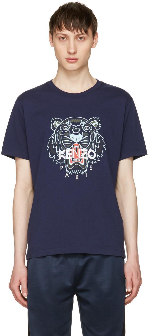9b200c0b Kenzo Navy Limited Edition Tiger T-Shirt | ModeSens