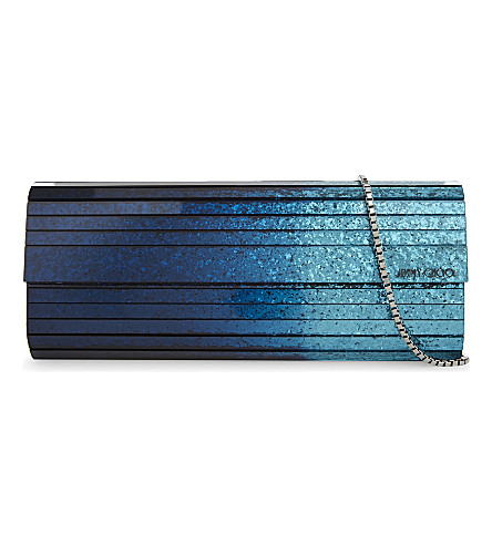 83e384b8b5 Jimmy Choo Sweetie Glitter Acrylic Clutch In Antique Gold Anthracity ...