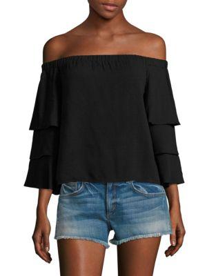 6a78461d23208 Ella Moss Stella Off-The-Shoulder Top In Black