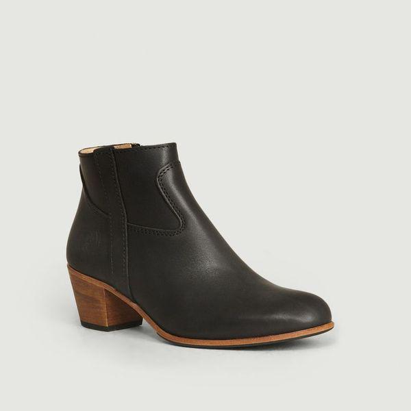 La Botte Gardiane Full Grain Calf Leather Gil Boots Black