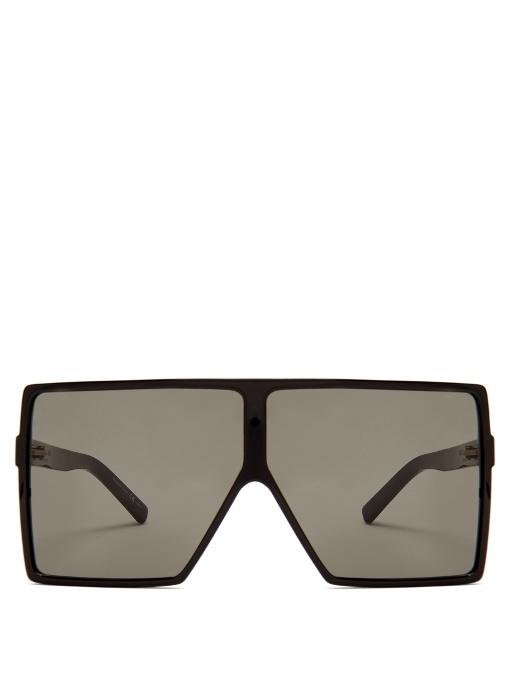 3f33f2160d Saint Laurent Betty Oversized Square-Frame Acetate Sunglasses In Black