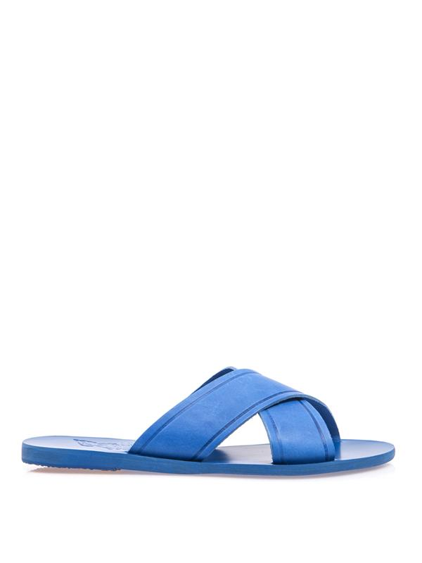 Ancient Greek Sandals Thais Leather Sandals In Bright-Blue
