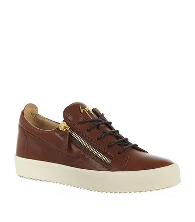 Giuseppe Zanotti 'frankie' Low-top Sneakers In Tan