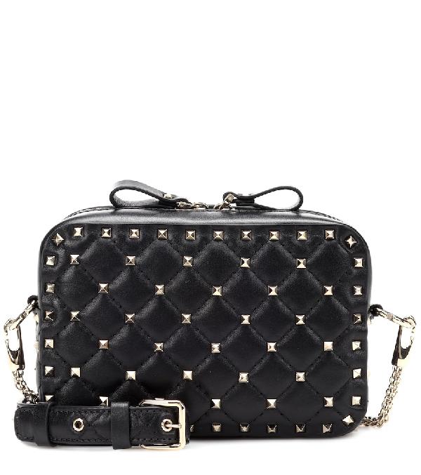54b0e09a5 Valentino Rockstud Leather Camera Crossbody Bag - Black   ModeSens