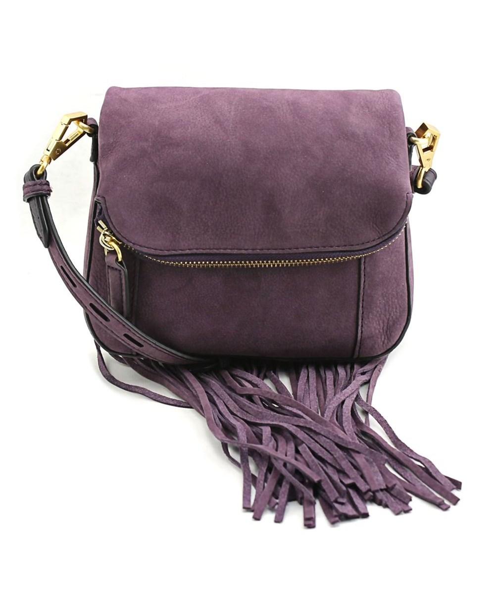 3289665fda0bc Rebecca Minkoff Mini Crossbody Saddle Bag Women Leather Purple Messenger'