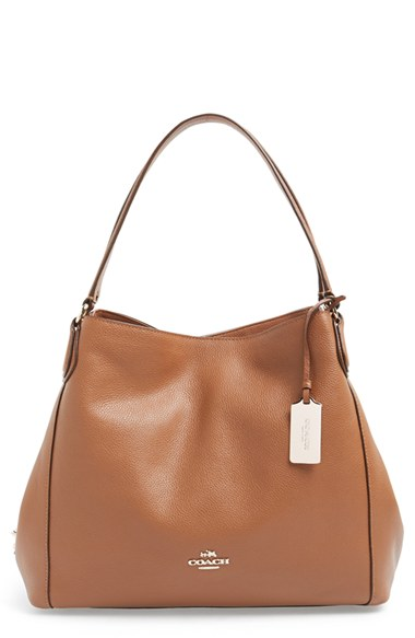 4abcef06d76e Coach Edie Shoulder Bag 31 In Refined Pebble Leather In Saddle ...