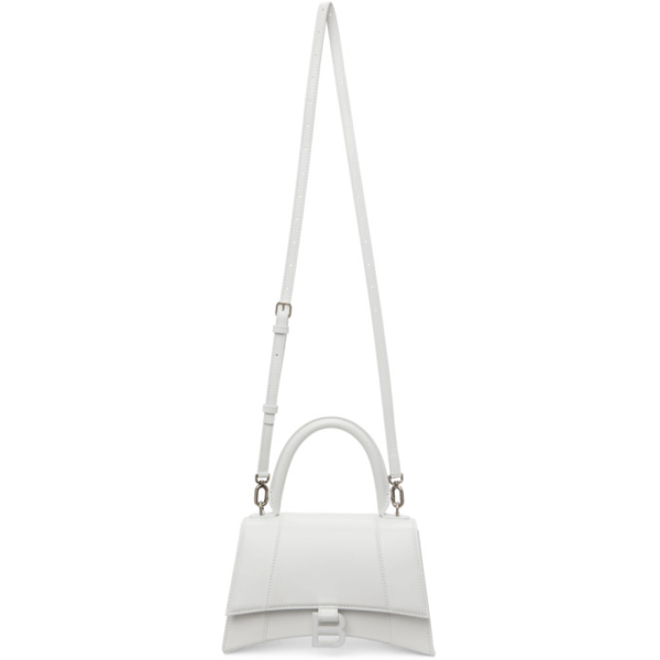 Balenciaga White Shiny Small Hourglass Bag In 9000 White