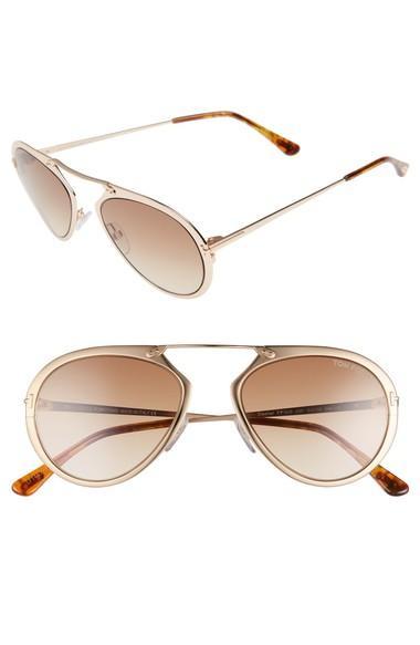 9c535b779a5 Tom Ford Dashel 58Mm Aviator Sunglasses - Rose Gold  Gradient Brown.  Nordstrom