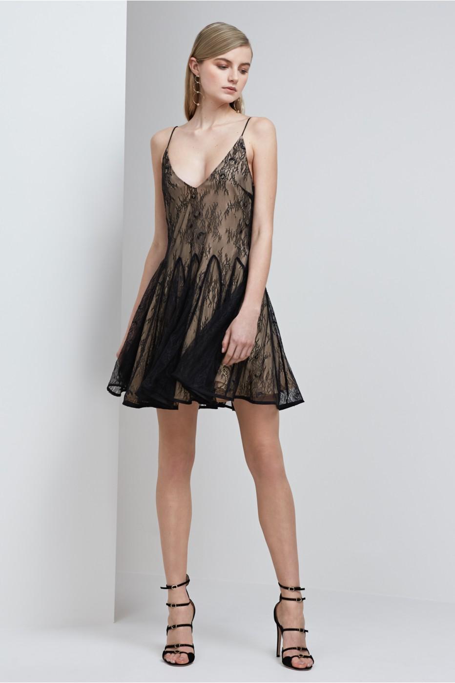 0cd3932d2ab0 Keepsake Above Water Lace Mini Dress In Black | ModeSens