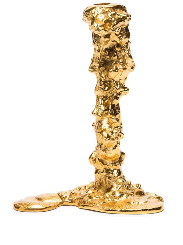 Pols Potten Pascal Smelik Drip Gold-toned Large Metal Candle Holder 25cm