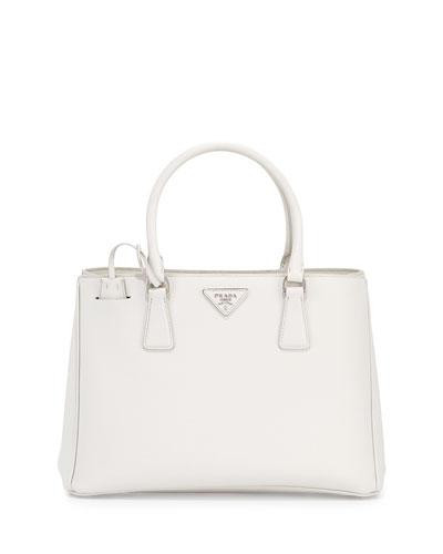 f63208ff5a71 Prada Saffiano Lux Small Gardener's Tote Bag, White (Talco) | ModeSens