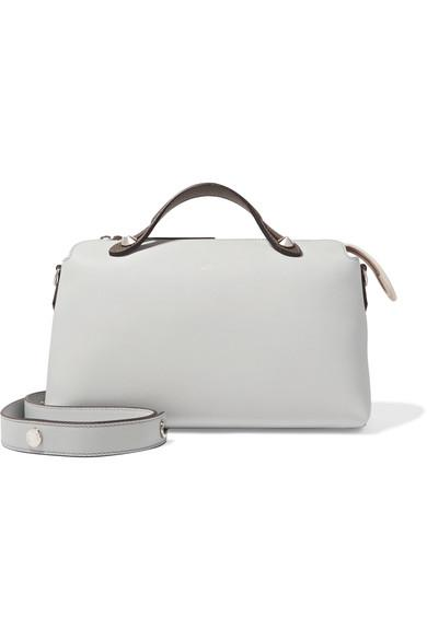 Fendi By The Way Small Color-Block Leather Shoulder Bag In White/ Multicolor