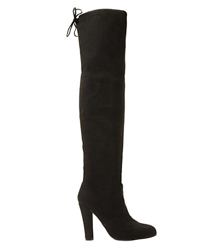 Steve Madden Suede Over-the-knee Boots In Black-micro Fibre