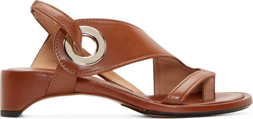 Maison Margiela Brown Grommet Sandals