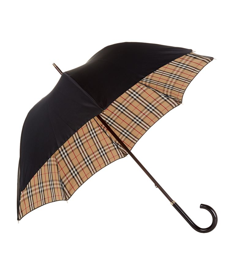 3ff35ad8b8e9 Burberry Heritage Check-Lined Walking Umbrella In Harrods