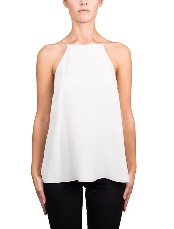 Cami Nyc The Charlie Lace-Back Silk Crepe De Chine Tank, White