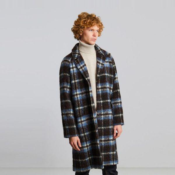 L'exception Paris Oversized Overcoat Poilu Carreau 4807  In Multi