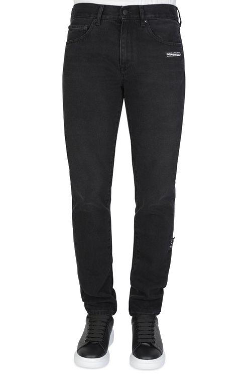 Off-white Slim Denim Pants In Black